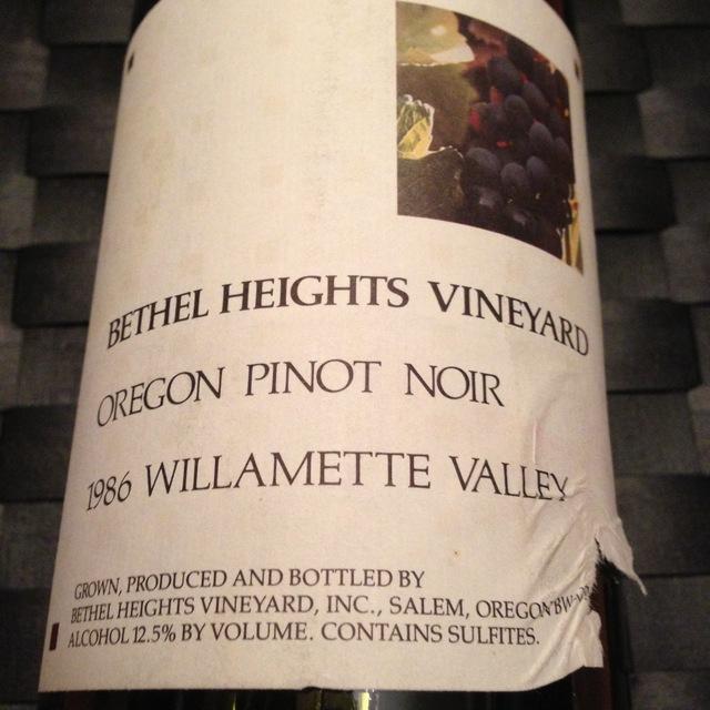 Bethel Heights Estate Grown Willamette Valley Pinot Noir 2012