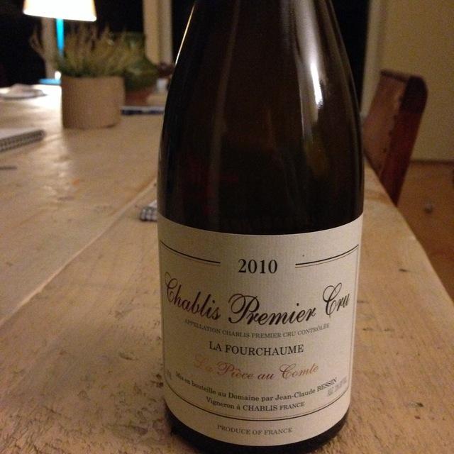 Jean-Claude Bessin La Fourchaume La Pièce au Comte Chablis 1er Cru Chardonnay 2015