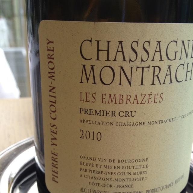 Les Embrazees Chassagne-Montrachet 1er Cru Chardonnay 2013