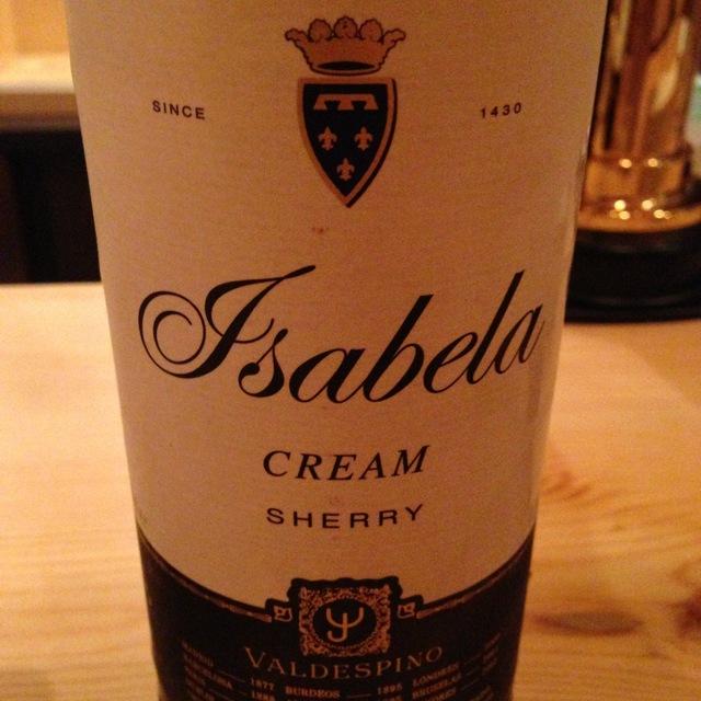 Isabella Oloroso Cream Jerez-Xérès-Sherry Palomino Fino and Pedro Ximénez