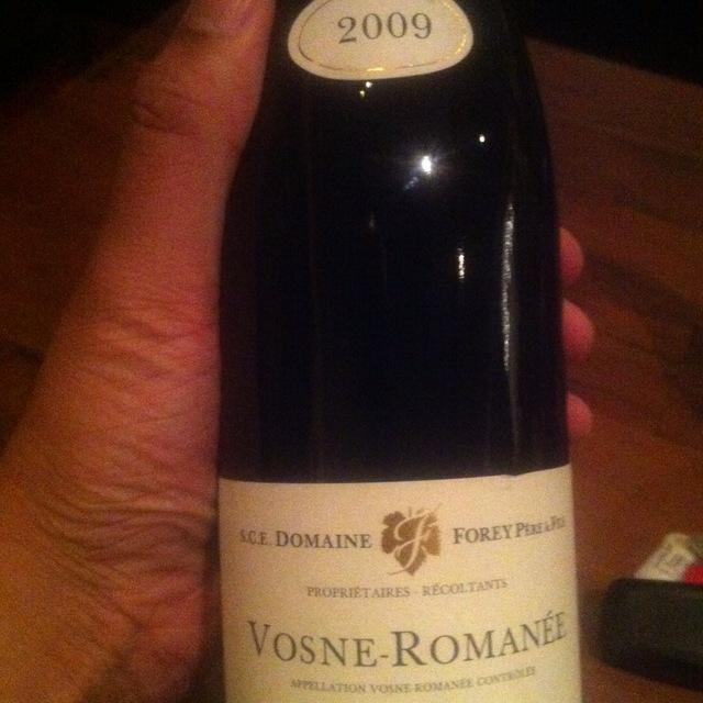 Vosne-Romanée Pinot Noir 2009