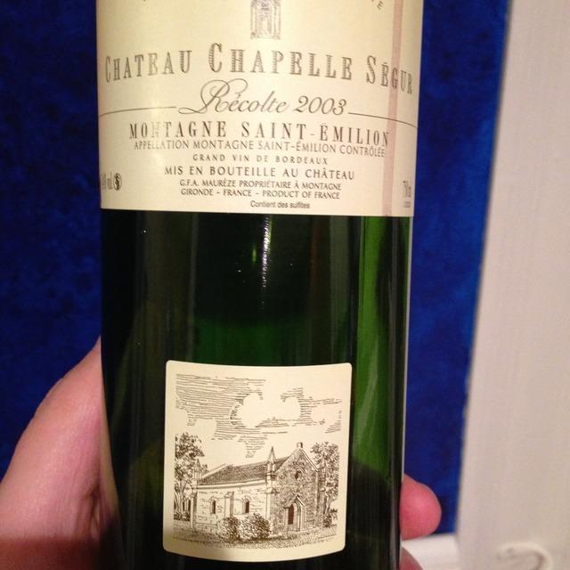 Montagne-St. Émilion Red Bordeaux Blend 1996
