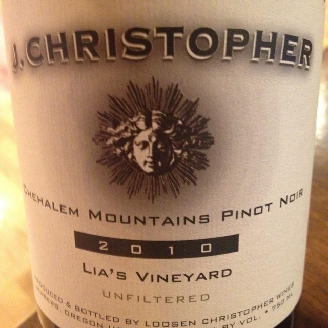 Lia's Vineyard Unfiltered  Pinot Noir 2013