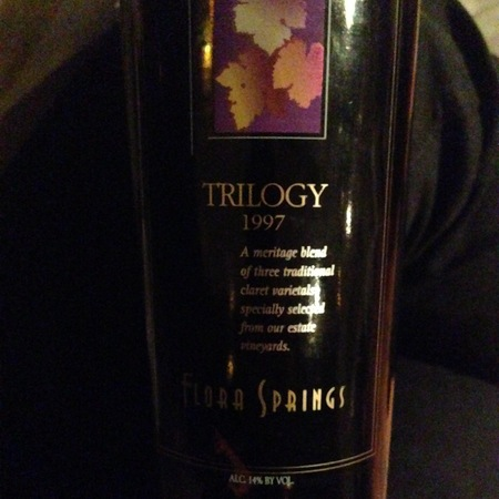 Flora Springs Trilogy Napa Valley Cabernet Sauvignon Blend 1997 (1500ml)