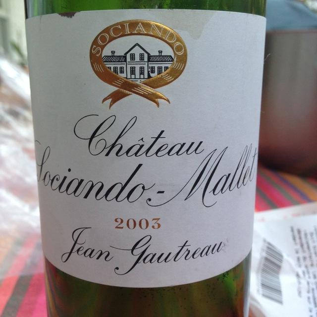 Château Sociando-Mallet Haut-Médoc Red Bordeaux Blend 2003