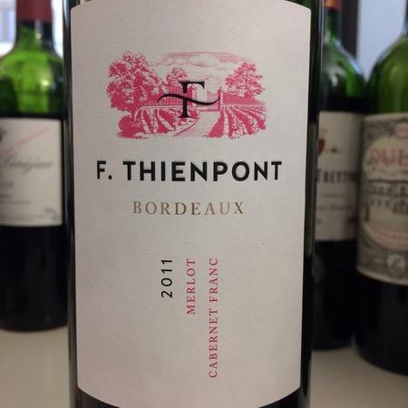 F. Thienpont Bordeaux Merlot Cabernet Franc 2011