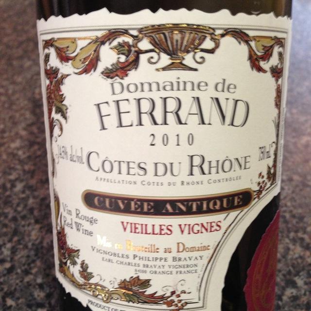 Cuvée Antique Vieilles Vignes Côtes du Rhône Red Rhone Blend 2014
