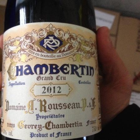 Domaine Armand Rousseau  Chambertin Grand Cru Pinot Noir 2012