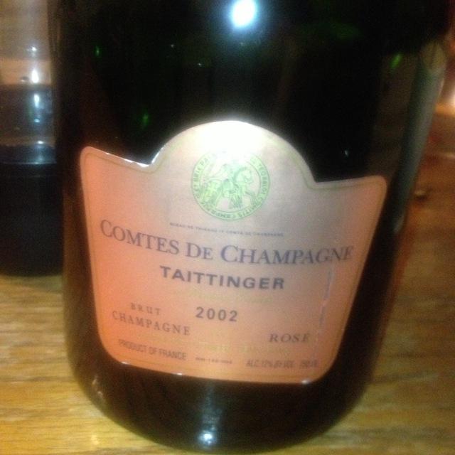 Taittinger Comtes de Champagne Brut Rosé Champagne  2002
