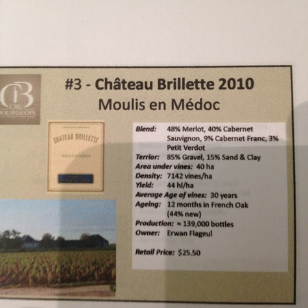 Château Brillette Cru Bourgeois Moulis en Médoc Red Bordeaux Blend 2010