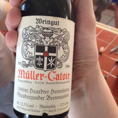 Müller-Catoir  Haardter Herrenletten Grauburgunder Beerenauslese 1989 (375ml)