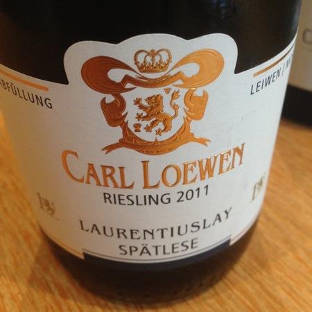 Carl Loewen Leiwener Laurentiuslay Spätlese Riesling 2016