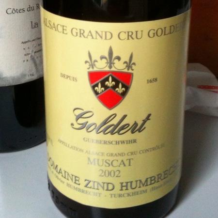 Domaine Zind Humbrecht Goldert (Gueberschwihr) Grand Cru Muscat 2002