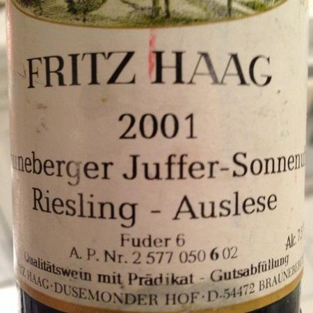 Fritz Haag Brauneberger Juffer-Sonnenuhr Auslese Riesling 2004