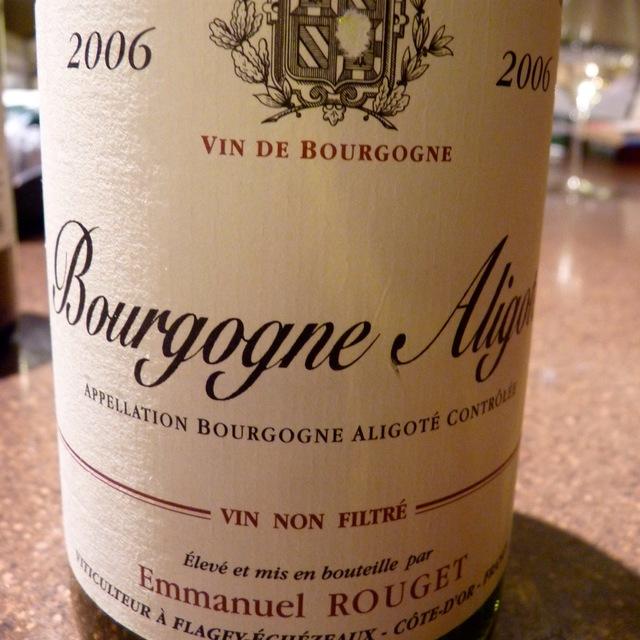 Emmanuel Rouget Bourgogne-Aligoté Aligoté 2014