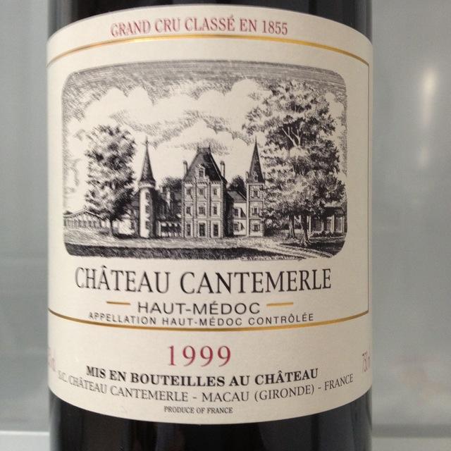 Château Cantemerle Haut-Médoc Red Bordeaux Blend 1999