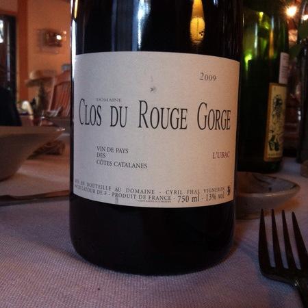Domaine Clos du Rouge Gorge (Cyril Fhal)   L'Ubac Vin de Pays des Côtes Catalanes Red Rhone Blend 2014