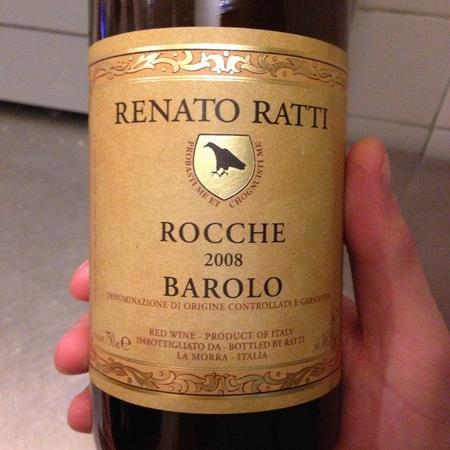 Renato Ratti Rocche Barolo Nebbiolo 2008