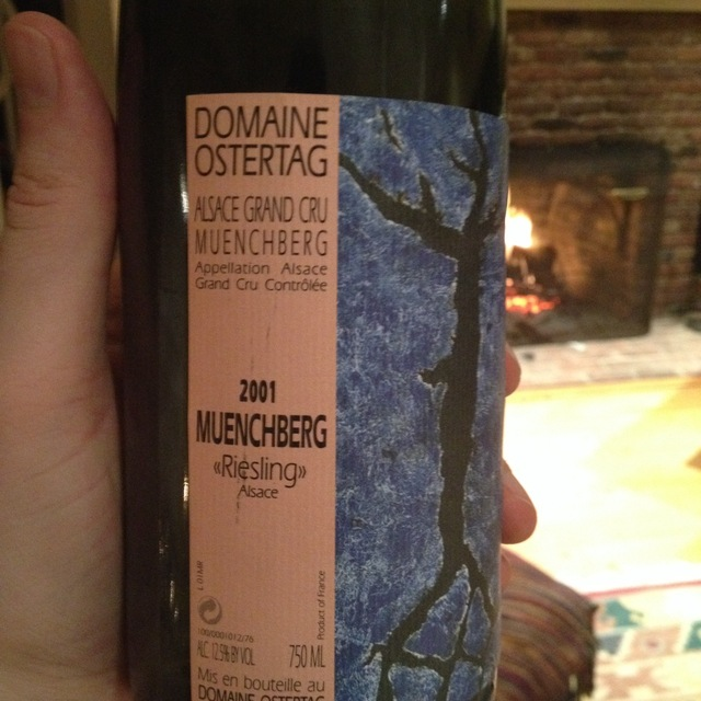 Domaine Ostertag Muenchberg Alsace Grand Cru Riesling 2001