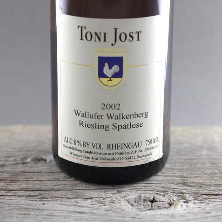 Toni Jost Wallufer Walkenberg Spätlese Riesling 2002