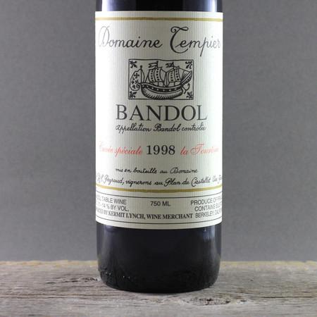 Domaine Tempier Cuvée La Tourtine Bandol Mourvedre Blend 1998