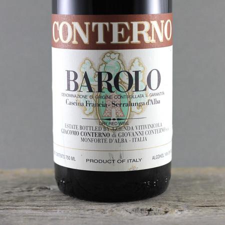 Giacomo Conterno Cascina Francia Barolo Nebbiolo 1999