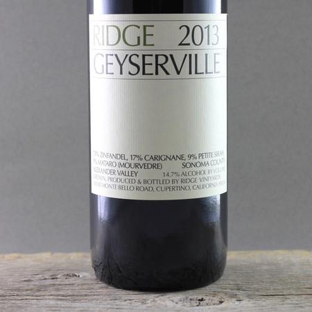 Ridge Vineyards Geyserville Vineyard Zinfandel Blend 2013