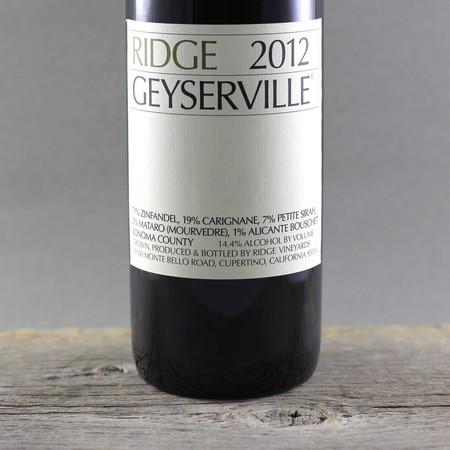 Ridge Vineyards Geyserville Vineyard Zinfandel Blend 2012