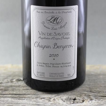 Louis Magnin Vin de Savoie Chignin Bergeron Roussanne 2010