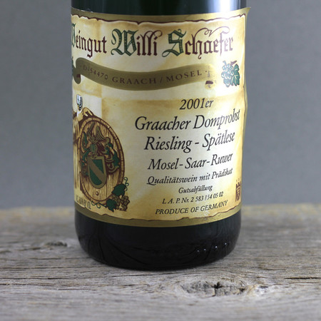 Willi Schaefer Graacher Domprobst Spätlese Riesling Auction 2001