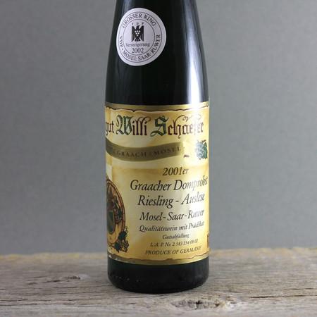 Willi Schaefer Graacher Domprobst  Auslese Riesling Goldkapsel Auction 2001 (375ml)