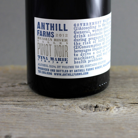 Anthill Farms Tina Marie Vineyard Pinot Noir 2012