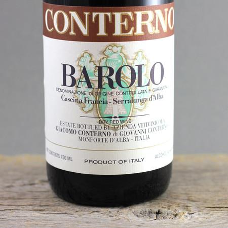 Giacomo Conterno Cascina Francia Barolo Nebbiolo 1998