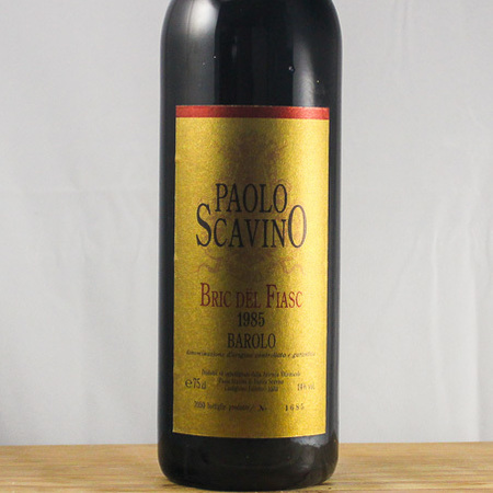 Paolo Scavino Bric dël Fiasc Barolo Nebbiolo 1985
