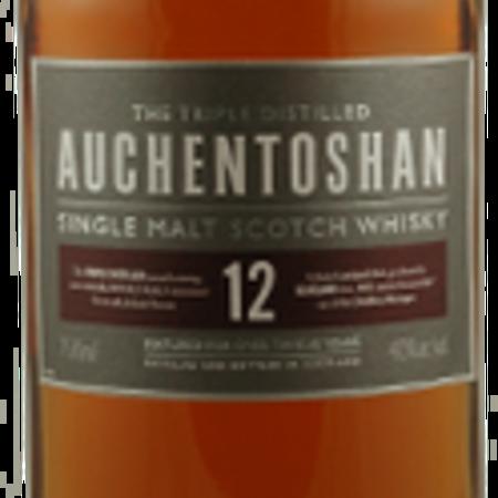Auchentoshan Distillery  12 Years Old Triple Distilled Single Malt Scotch Whisky NV