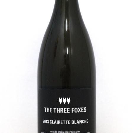 The Three Foxes Clairette Blanche 2013