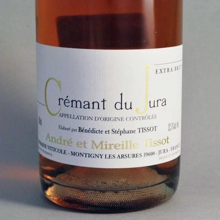 Domaine André et Mireille Tissot Extra Brut Crémant du Jura Rosé Poulsard Blend NV
