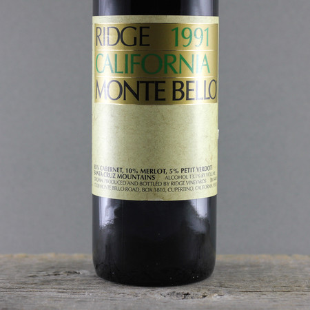 Ridge Vineyards Monte Bello Vineyard Cabernet Sauvignon Blend 1985