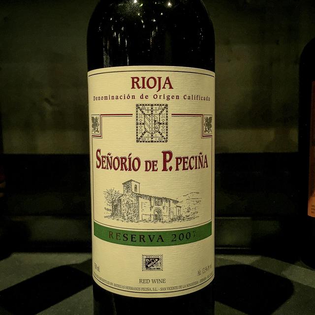 Señorío de P. Peciña Reserva Rioja Tempranillo 2007