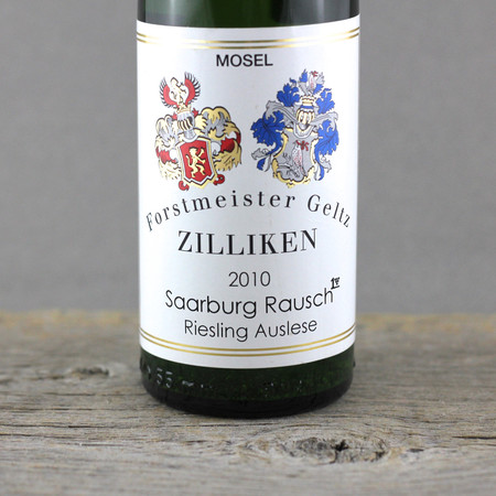 Weingut Forstmeister Geltz Zilliken  Saarburger Rausch Goldkapsel Erste Lage Auslese Riesling 2010 (375ml)
