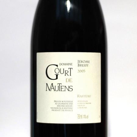 Domaine Gourt de Mautens (Jérôme Bressy) Rasteau Red Rhone Blend 2003