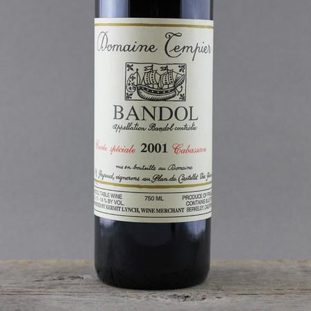 Domaine Tempier Cuvée Spéciale Cabassaou Bandol Mourvedre Blend  2001