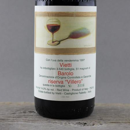"""Vietti Riserva """"Villero"""" Barolo Nebbiolo 1996"""