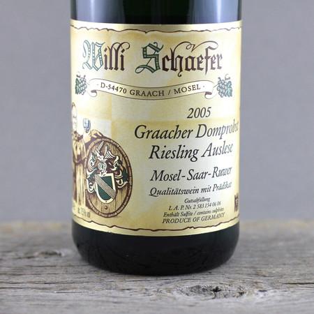 Willi Schaefer Graacher Domprobst  Auslese Riesling Goldkapsel Auction 2005