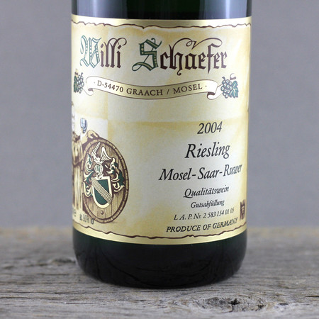Willi Schaefer Mosel Riesling 2004