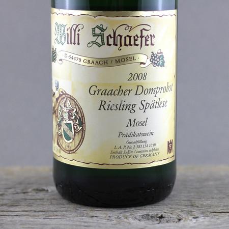 Willi Schaefer Graacher Domprobst Spätlese Riesling Auction 2008