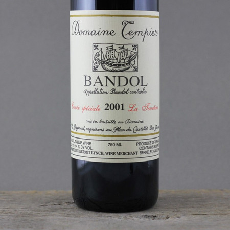 Domaine Tempier Cuvée La Tourtine Bandol Mourvedre Blend 2001
