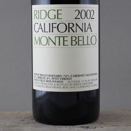 Ridge Vineyards Monte Bello Vineyard Cabernet Sauvignon Blend 2002 (1500ml)