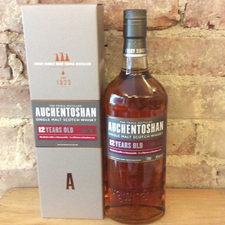 Auchentoshan Distillery  12 Years Old Triple Distilled Single Malt Scotch Whisky NV