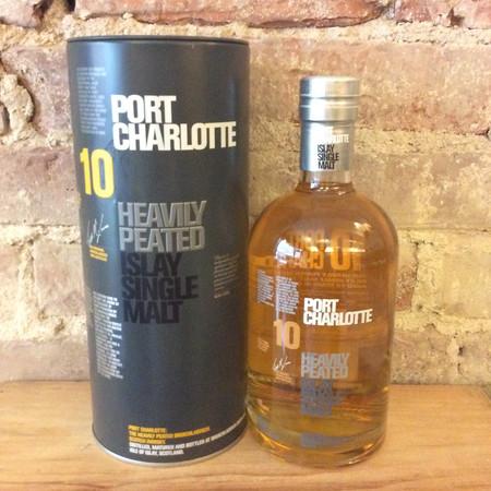 Bruichladdich Port Charlotte Heavily Peated  10 Year Old  Islay Single Malt Scotch NV